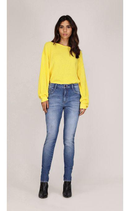 5ed541cb24 Calca Skinny Pietra Cos Alto Media Jeans