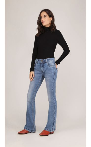 2f6d34914 Calca Boot Cut Gigi Cos Intermediario Media Jeans