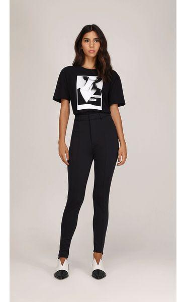 e2c5bcd9c T-Shirt Decote Redondo Com Silk Preto